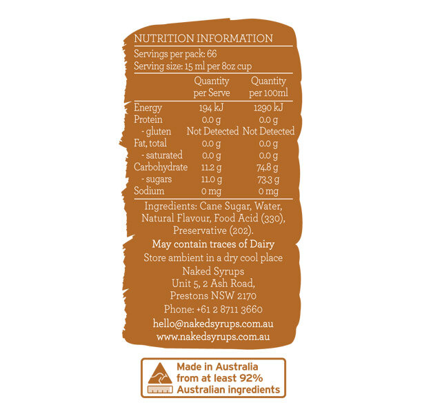 Naked Syrups Gingerbread Syrup Label