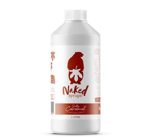 Buy Naked Syrups Salty Caramel Flavoured Dessert Sauce of 1 Ltr Online